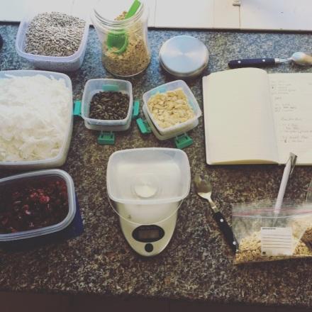 Muesli making process